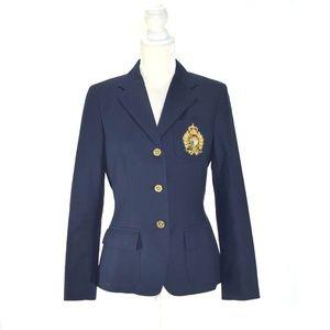 RALPH LAUREN Classic Navy Crest Blazer